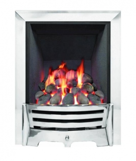Be Modern Mayfair Inset Gas Fire - Chrome/Coal Deepline