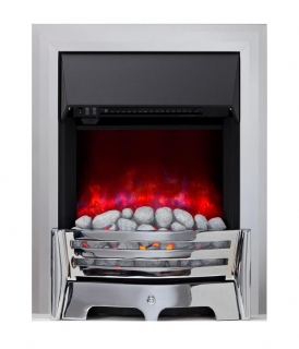 Be Modern Mayfair Inset Gas Fire - Chrome/Pebble Slimline