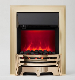 Be Modern Mayfair LED Inset Electric Fire - Brass