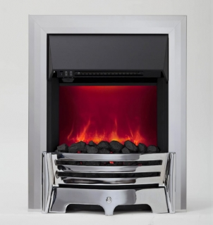 Be Modern Mayfair LED Inset Electric Fire - Chrome/Coal (Deep Trim)
