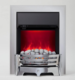 Be Modern Mayfair LED Inset Electric Fire - Chrome/Pebble