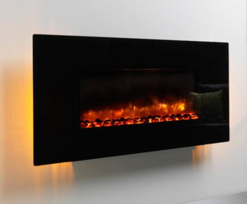 Be Modern Orlando Led Wall Hung Electric Fire Black