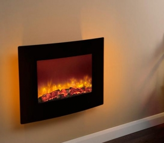 Be Modern Quattro LED Wall Hung Electric Fire - Black