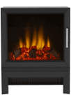 Image for Be Modern Qube 2kW Electric Stove Black Log Bed - 49697