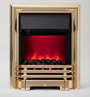 Be Modern Savannah LED Inset Electric Fire - Brass