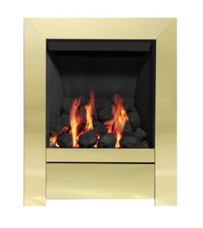 Be Modern Sensation Inset Gas Fire - Brass/Coal Slimline