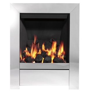 Be Modern Sensation Inset Gas Fire - Chrome/Coal Slimline