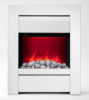 Be Modern Sensation LED Inset Electric Fire - Chrome/Pebbles