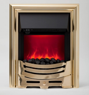 Be Modern Signum Inset Electric Fire - Brass
