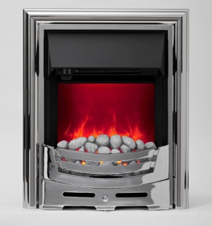 Be Modern Signum Inset Electric Fire - Chrome (White Pebbles)
