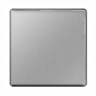 Image for BG 1 Gang Blanking Plate Brushed Steel - FBS94-01