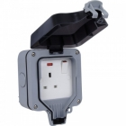 Image for BG 1 Gang IP65 Outdoor Switched Socket WP21-01