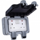 Image for BG 2 Gang Double Pole Switched Outdoor Socket - WP22-01