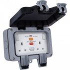 Image for BG 2 Gang Latching RCD Switched Socket - WP22RCD-01