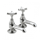 Image for Bristan 1901 - Basin Tap - Deck Mounted Pillar (Pair) - Chrome - N 1/2 C CD