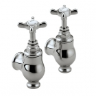 Image for Bristan 1901 - Basin Taps - Wall Mounted Globe Pillar (Pair) - Chrome - N GLO C CD