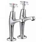 Image for Bristan 5412 Cross Top High Neck Pillar Taps VAX HNK C
