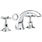 Image for Bristan Art Deco - Basin Tap - Deck Mounted Pillar (Pair) - Chrome - D2 1/2 C CD
