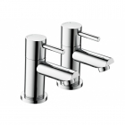 Image for Bristan Blitz - Bath Tap - Deck Mounted Pillar (Pair) - Chrome - BTZ 3/4 C