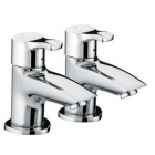 Image for Bristan Capri - Bath Tap - Deck Mounted Pillar (Pair) - Chrome - CAP 3/4 C