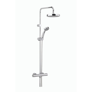 Bristan Carre Exposed Fixed Head Bar Shower CR SHXDIVFF C