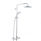 Image for Bristan Carre Exposed Fixed Head Bar Shower CR SHXDIVFF C