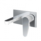 Image for Bristan Claret - Basin Tap - Wall Mounted 2 Hole Mixer - Chrome & White - CLR WMBAS WHT
