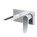 Image for Bristan Claret - Bath Tap - Wall Mounted 2 Hole Filler - Chrome & White - CLR WMBF WHT