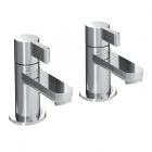 Image for Bristan Clio - Basin Tap - Deck Mounted Pillar (Pair) - Chrome - CLI 1/2 C