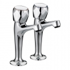 Image for Bristan Club High Neck Pillar Taps VAC HNK C MT