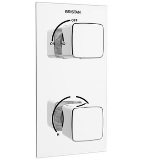 Bristan Cobalt Recessed Thermostatic Dual Control Shower Valve COB SHCVO C