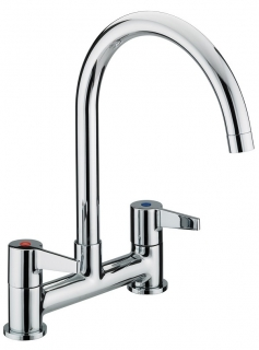 Bristan Design Utility Lever Deck Sink Mixer Chrome Plated DUL DSM C