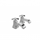 Image for Bristan Glorious - Basin Tap - Deck Mounted Pillar (Pair) - Chrome - GLR 1/2 C