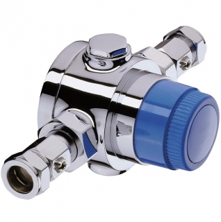 Bristan Gummers 22mm Chrome Plated Thermostatic Mixing Valve