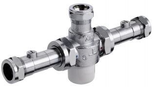 Bristan Gummers 22mm Thermostatic Mixing Valve With Isolation MT753CP-ISO