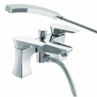 Image for Bristan Hourglass - Bath Tap - Deck Mounted Bath Shower Mixer - Chrome - HOU BSM C