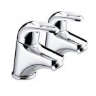 Image for Bristan Java - Basin Tap - Deck Mounted Pillar (Pair) - Chrome - J 1/2 C