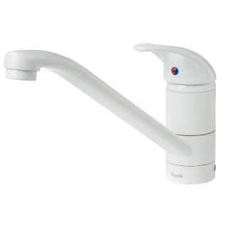 Bristan Java Single Flow Easyfit Monobloc Kitchen Sink Mixer Tap - White J SFSNK EF WHT