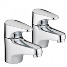 Image for Bristan Jute Basin Tap - Deck Mounted Pillar (Pair) - Chrome - JU 1/2 C