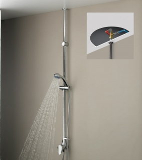 Bristan Jute Mini Twinline Thermostatic Shower Chrome Plated JU MTLSHX C