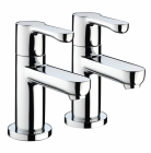 Image for Bristan Nero - Basin Tap - Deck Mounted Pillar (Pair) - Chrome - NR 1/2 C