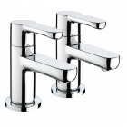 Image for Bristan Nero - Bath Tap - Deck Mounted Pillar (Pair) - Chrome - NR 3/4 C