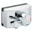 Image for Bristan Opac Thermostatic Exposed Shower Valve With Lever Handle & Shroud - OP TS1503 SCL C