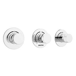 Bristan Orb Recessed Thermostatic Dual Control Shower Valve ORB SHC3DIV C