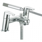 Image for Bristan Orta - Bath Tap - Deck Mounted Bath Shower Mixer - Chrome - OR BSM C