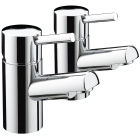 Image for Bristan Prism - Basin Tap - Deck Mounted Pillar (Pair) - Chrome - PM 1/2 C