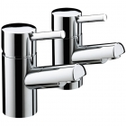 Image for Bristan Prism - Bath Tap - Deck Mounted Pillar (Pair) - Chrome - PM 3/4 C