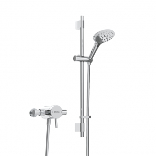 Bristan Prism Exposed Sequential Shower Valver With Adjustable Riser Kit PM2 SQSHXAR C