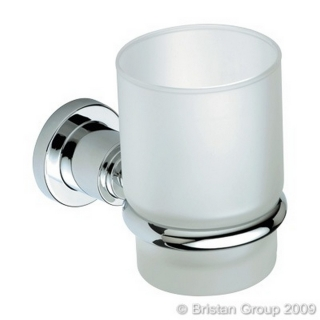 Bristan Prism Frosted Glass Tumbler & Holder PM HOLD C