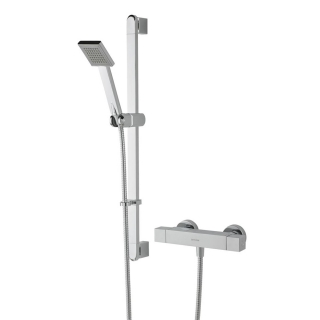 Bristan Quadrato Exposed Bar Shower with Kit QD SHXSMFF C